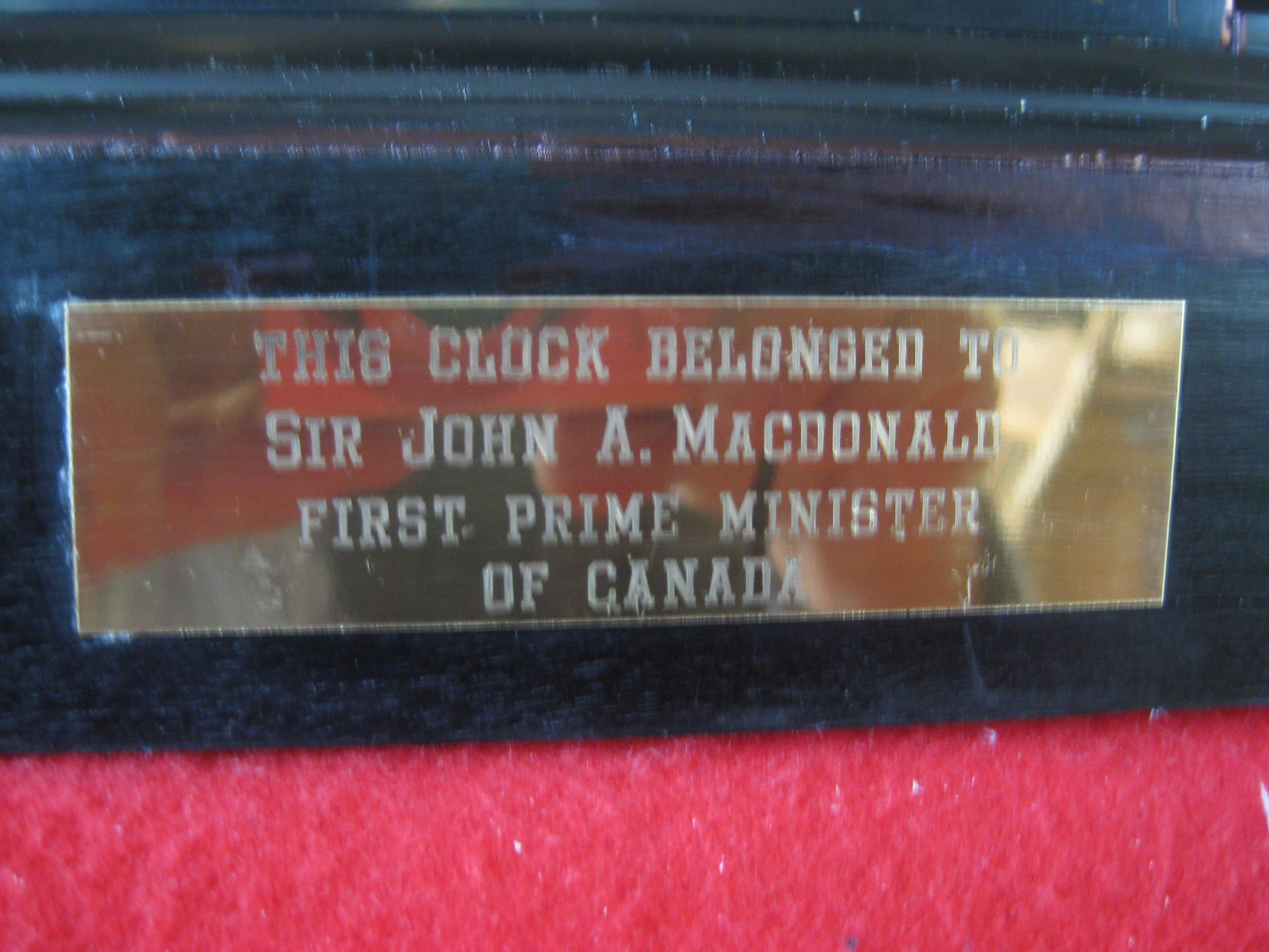 Sir John A. MacDonald clock