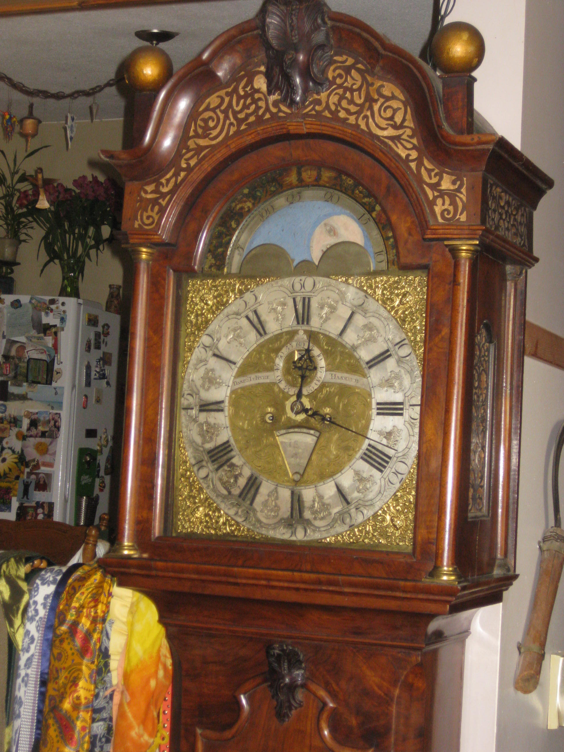 early 1700 Dutch tall clock
